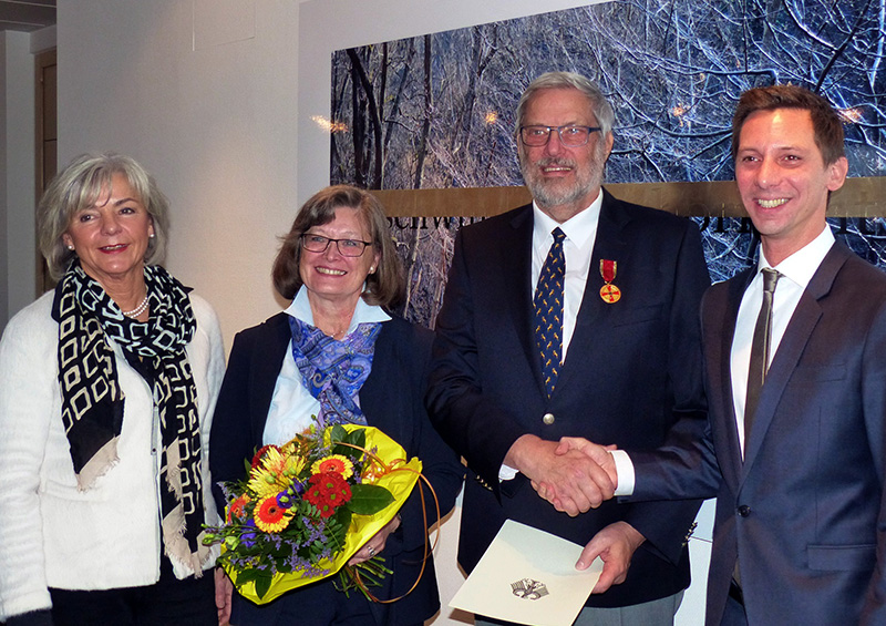Elfun Bernshausen, Ingrid Walder, Achim Walder, Landrat Andreas Müller